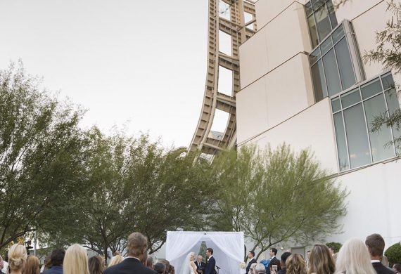 The wedding of Lisa and Ryan Hamilton at the Lou Ruvo Center for Brain Health in Las Vegas, NV.